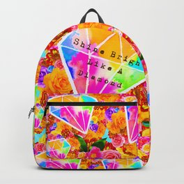 Shine Bright Like A Diamond Collage Backpack