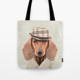 The stylish Mr Dachshund Tote Bag