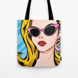 Fabulous Blonde Comic Girl Tote Bag