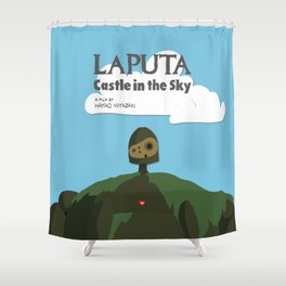 Laputa Castle in the Sky Shower Curtain