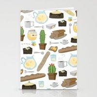 bread Stationery Cards featuring Bread by Ceren Aksu Dikenci
