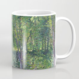 1887-Vincent van Gogh-Trees and undergrowth Coffee Mug