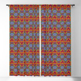 Batik Rainbow Zigzags Blackout Curtain