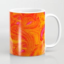 Orange on Fire with Swirls of Pink and Yellow Coffee Mug