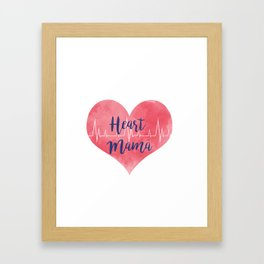 Heart Mama Framed Art Print