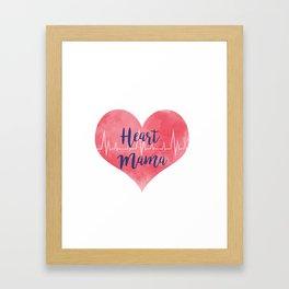 Heart Mama Framed Art Print