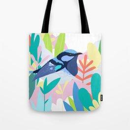 Superb Fairy-Wren Bird in the Garden Tote Bag