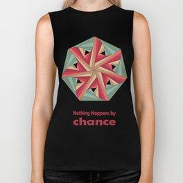 Geometric Mandala / Nothing happens by chance Biker Tank