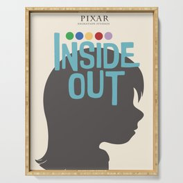 Inside Out - Minimal Movie Poster Serving Tray