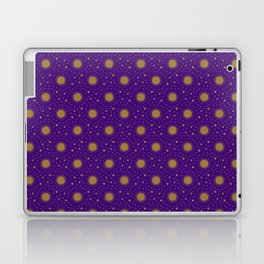 Astrological Purple Stars and Sun Laptop & iPad Skin
