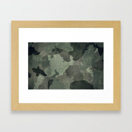 Dirty camouflage texture Framed Art Print