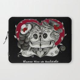 Roses Sugar Skull Couple, Always Kiss Me Goodnight Laptop Sleeve