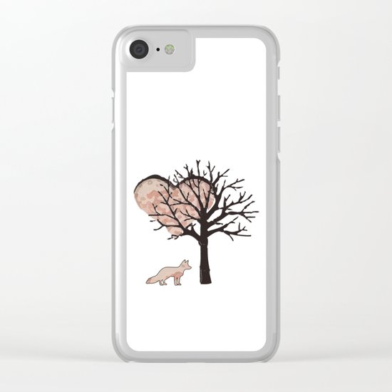 Fox In Love Clear iPhone Case