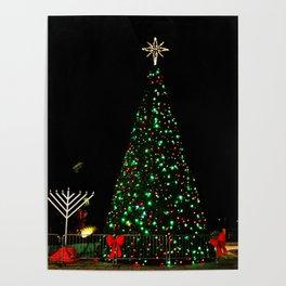 A Lit Christmas Tree Poster