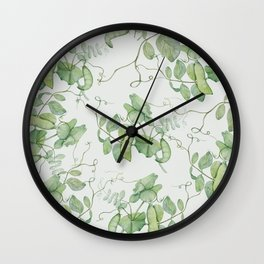 Floating Peas Wall Clock