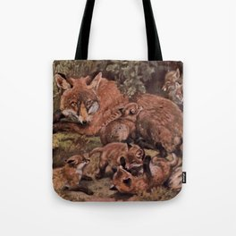Vintage Fox and Cuba Painting (1909) Tote Bag