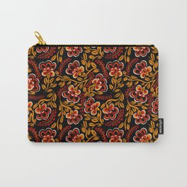 Russian Khokhloma Floral Carry-All Pouch