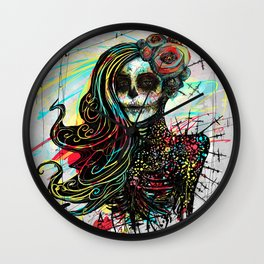 Vivid Muerte Wall Clock