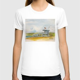 Santa Monica Beach - Lifeguard Tower #8 T-shirt