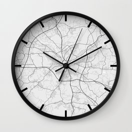 Osnabrück City Map of Germany - Light Wall Clock
