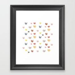 Cat Family for J&K #1 (medium cats) Framed Art Print