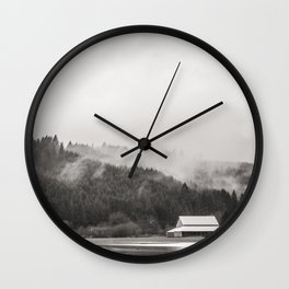Clouds on Mountains  Wall Clock