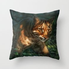 Golden Cat Throw Pillow