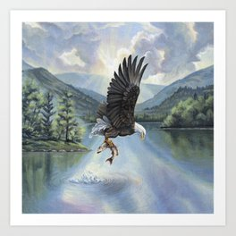 Eagle with Fish Art Print