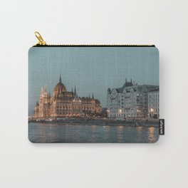 Gold and blue Budapest Carry-All Pouch