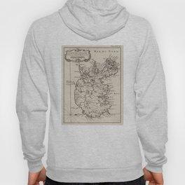 Vintage Map of Iceland (1764) Hoody