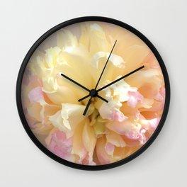 Landscape Peony Wall Clock