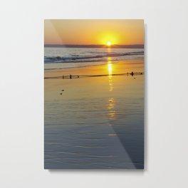 Sunset in the Beach Metal Print