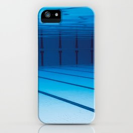 Underwater Empty Swimming Pool. iPhone Case