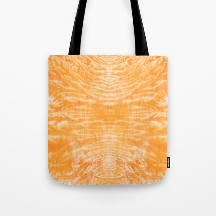 underwater fire, a coral dream of tree branches in orange Tote Bag
