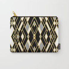 Art Deco Grey Gold Carry-All Pouch