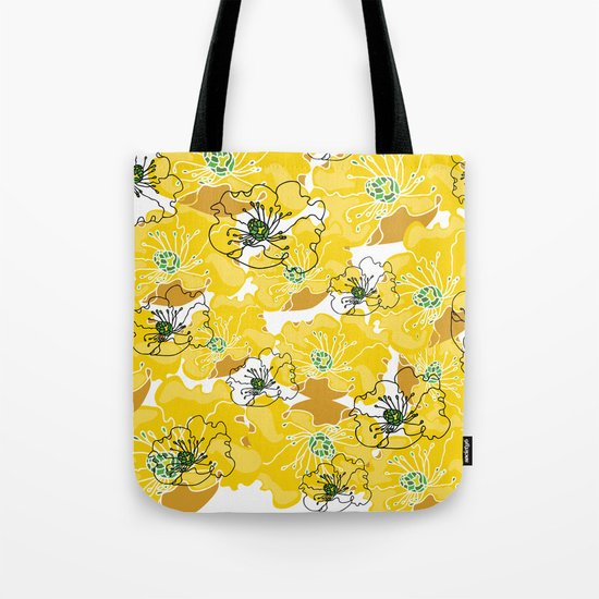 yellow marzipan flowers Tote Bag