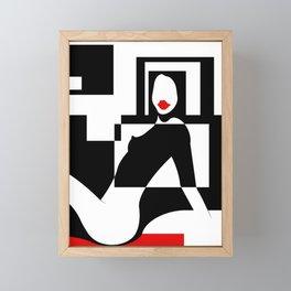 Incognito RED Framed Mini Art Print