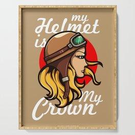 My Helmet is my Crown Serving Tray