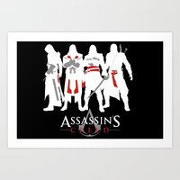 assassins creed Art Prints featuring Assassins by Pixel Design
