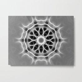 Gray Kaleidoscope Art 28 Metal Print
