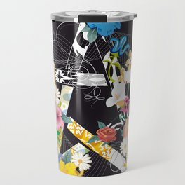 Pentagram with flowers Travel Mug