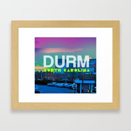 Durm, North Carolina Framed Art Print