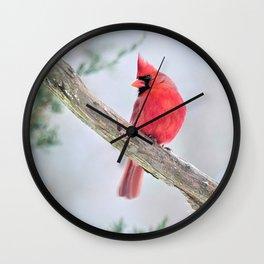 "Cardinal: ""Do You Hear What I Hear?"" Wall Clock"