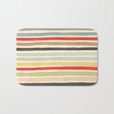 Stripes Watercolor Paint Robayre Bath Mat
