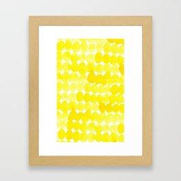 yellow//dots Framed Art Print