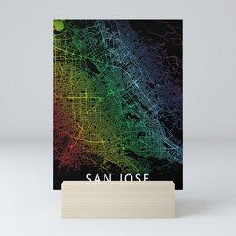 San Jose, USA, City, Map, Rainbow, Map, Art, Print Mini Art Print