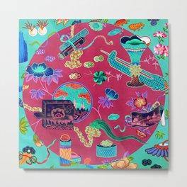 Chinese Decorative Panel Metal Print