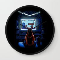 8bit Wall Clocks featuring 8bit Who by Bamboota