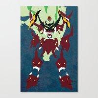 gurren lagann Canvas Prints featuring TENGEN TOPPA GURREN LAGANN by JHTY