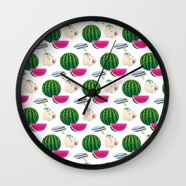 Traditional Japanese summer pattern_I Wall Clock